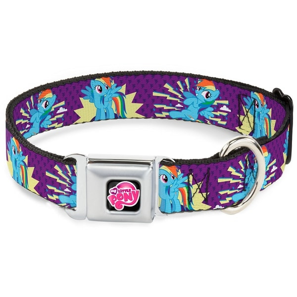 Shop Dog Collar Mlpd My Little Pony Logo Black Pink Rainbow Dash W