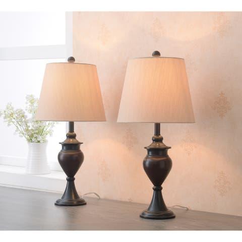 "Daren Oil Rubbed Bronze 2-Pack Accent Lamp - 10"" x 21"""
