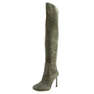 Nine West Uptown Grl   Round Toe Canvas  Knee High Boot