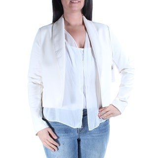 KAREN KANE $178 Womens New 1242 Ivory Suit Casual Jacket L B+B