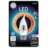 GE Lighting 89951 Dimmable Decorative LED Light Bulb, 4 Watts