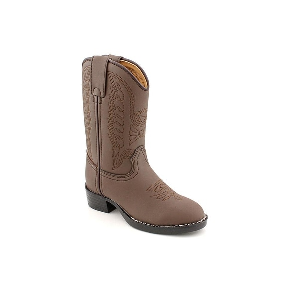 Durango BT804 Youth Round Toe Synthetic Brown Western Boot