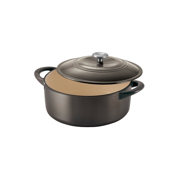 Tramontina 6 Qt Enameled Cast Iron Covered Dutch Oven - Gunmetal. Opens flyout.
