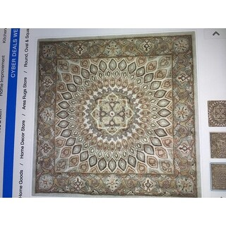Safavieh Handmade Heritage Timeless Traditional Blue/ Grey Wool Rug (8' Square)