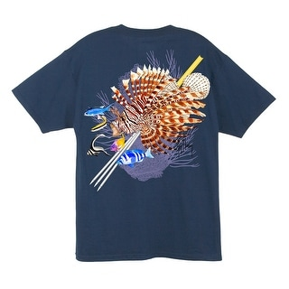 Guy Harvey Mens Lionfish Short Sleeve Shirt