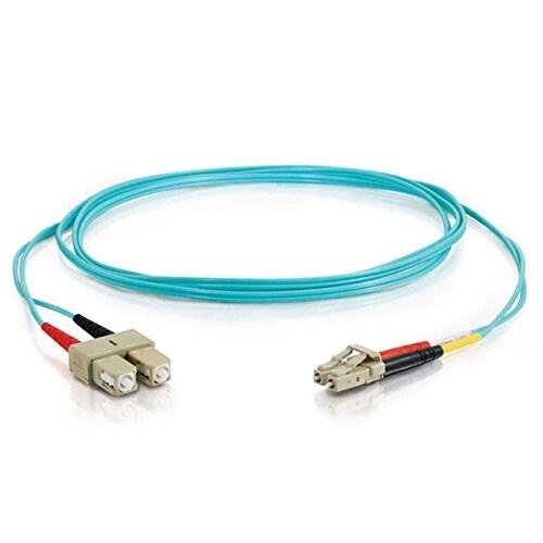 C2g - C2g 10M Lc-Lc 50/125 Duplex Multimode Om4 Fiber Cable - Aqua - 33Ft Om4 Cable -