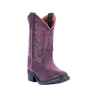 Laredo Western Boots Girls Leather Pull Strap Round Purple LC2457|https://ak1.ostkcdn.com/images/products/is/images/direct/defcdcc11220a18054eb93f5bc3fdee7ba7b53be/Laredo-Western-Boots-Girls-Leather-Pull-Strap-Round-Purple-LC2457.jpg?impolicy=medium