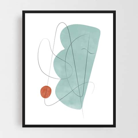 Abstract Mid-century Modern Framed Wall Art Print