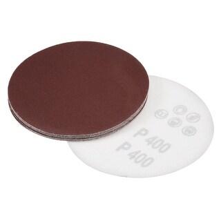 5-Inch Sanding Disc 400 Grits Aluminum Oxide Flocking Back Sandpapers 10 Pcs - 400 Grits