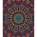 Handmade 100-percent Cotton 3D Psychedelic Sunburst Tapestry Tablecloth Bedspread in Twin 60x90 & Full 85x100 - Thumbnail 0