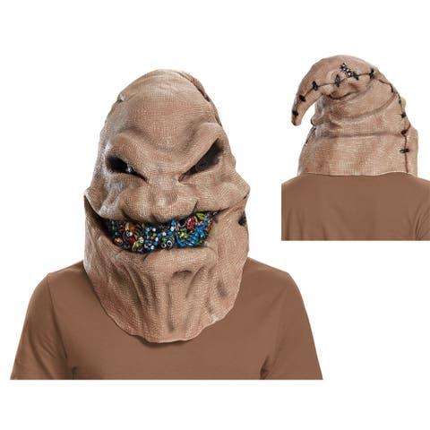Adult Oogie Boogie Full Face Vinyl Mask - Standard - One Size