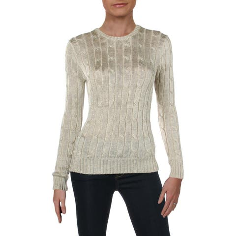 Polo Ralph Lauren Womens Pullover Sweater Cable Knit Long Sleeve - S