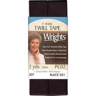 """Twill Tape 1""""X2yd-Black"""