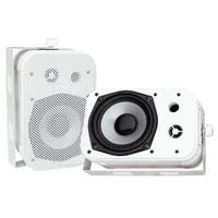 "5.25"" Indoor/Outdoor Waterproof Speakers (White)"