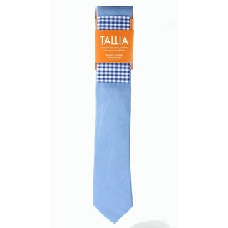 Tallia NEW Light Blue One Size Textured Neck Tie & Pocket Square Set