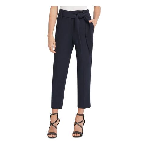 DKNY Womens Navy Tie Front Straight leg Evening Pants Size 10