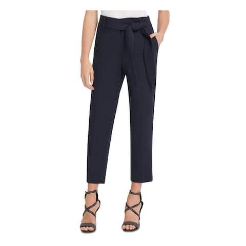 DKNY Womens Navy Tie Straight leg Evening Pants Size 6