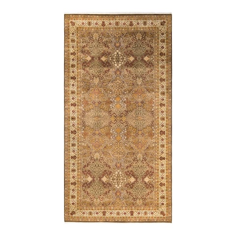 """Mogul, One-of-a-Kind Hand-Knotted Area Rug - Brown, 6' 3"""" x 12' 2"""" - 6'3"""" x 12'2"""""""