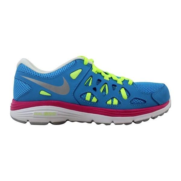 a6f69743d Nike Dual Fusion Run 2 Vivid Blue/Metallic Silver-Volt 599793-401 Grade