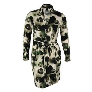 INC International Concepts Women's Belted Shirt Dress - l