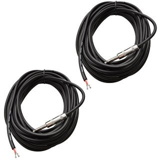 "SEISMIC AUDIO 15/' Raw Wire to 1//4/"" PA//DJ SPEAKER CABLE"
