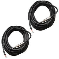 "2 SEISMIC AUDIO 35' Raw Wire-1/4"" PA/DJ SPEAKER CABLES"