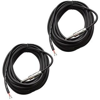 "2 SEISMIC AUDIO 35' Raw Wire-1/4"" PA/DJ SPEAKER CABLES"