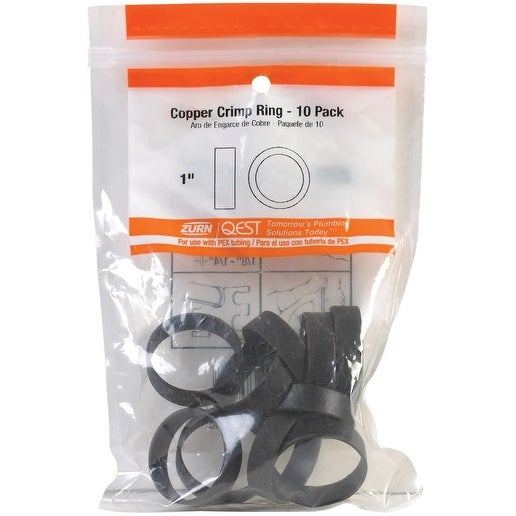 Qest 23104CP25 PEX Crimp Rings, 1, Copper