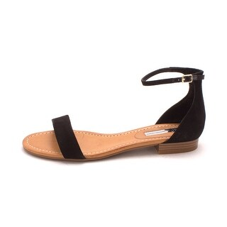 INC International Concepts Womens Yaffa Leather Open Toe Casual Ankle Strap S...