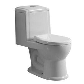 Child's White Ceramic Round Small Toilet