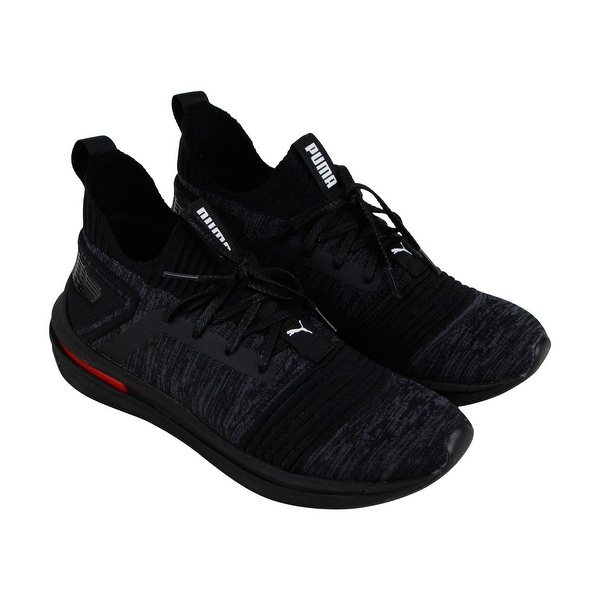 a8ae548c81c163 Puma Ignite Limitless Sr Evoknit Mens Black Textile Athletic Training Shoes