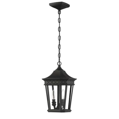 "Park Harbor PHEL5104 Foxfield 2 Light 9"" Wide Outdoor Mini Pendant - Black"