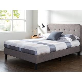 Link to Priage by ZINUS Grey Upholstered Tufted Platform Bed Frame Similar Items in Bedroom Furniture
