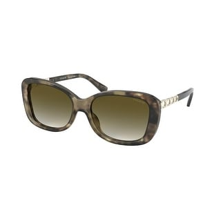 Link to Coach HC8286 55927Z 57 Green Tortoise Woman Rectangle Sunglasses Similar Items in Women's Sunglasses