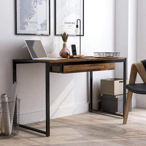 Furniture of America Listic Contemporary Natural Tone Writing Desk