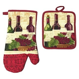 Kitchen Collection Neoprene Oven Mitt and Potholder Set