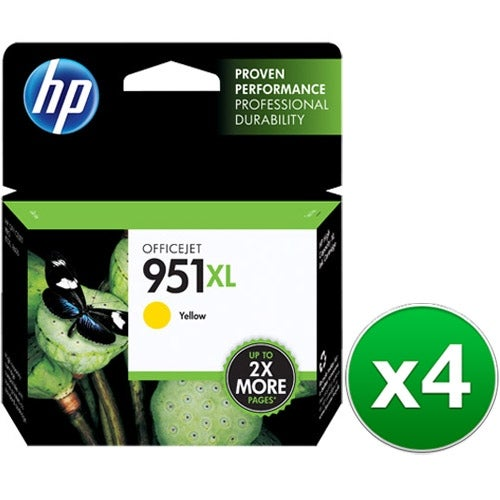 HP 951XL Yellow Original Ink Cartridge (CN048AN)(4-Pack)