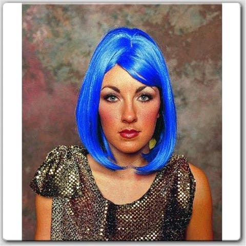 RG Costumes 60036 Peggy Sue Wig - Blue - Size Adult