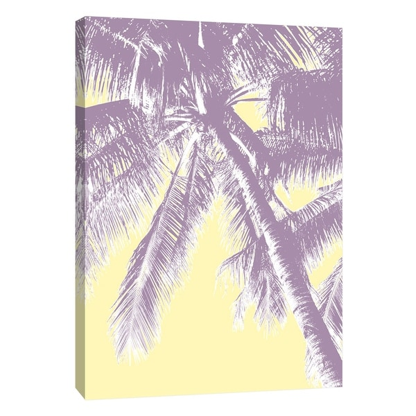 "PTM Images 9-105824 PTM Canvas Collection 10"" x 8"" - ""Retro Palms 3"" Giclee Palms Art Print on Canvas"