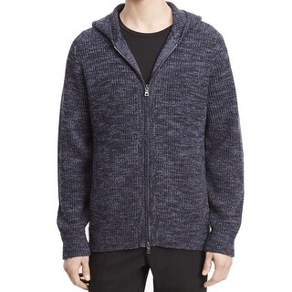 Vince. NEW Night Shadow Blue Mens XL Full Zip Hooded Wool Sweater