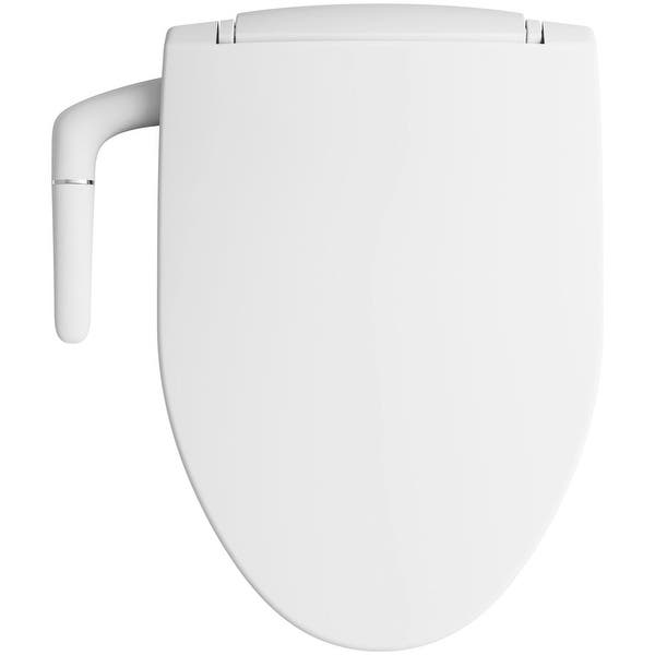 Shop Kohler K 5724 Puretide Elongated Bidet Toilet Seat With Quiet Close Overstock 16298104 Biscuit