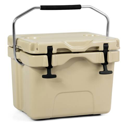 Costway 16 Quart Cooler Portable Ice Chest Leak-Proof 24 Cans Ice Box