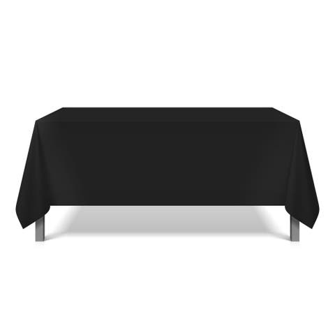 Mariposa Spun Polyester Tablecloths (6-Pack) - for Parties, Buffet Table, Catering, Holiday Dinner, Banquets, Shows