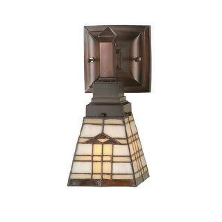 "Meyda Tiffany 98201 Arrowhead 5"" Wide Single Light Wall Sconce with Stained Glass Shade"