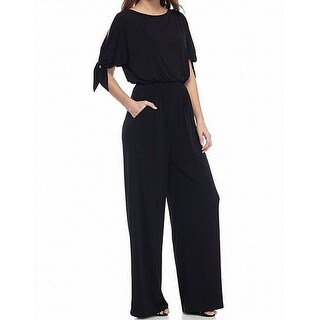 Vince Camuto NEW Black Women's Size Small S Tied-Sleeve Jumpsuit
