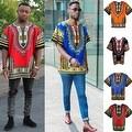 UNISEX Dashiki Men's Adult Summer Casual Loose Short Sleeve Cotton Jersey Kaftan T-Shirt - Thumbnail 1