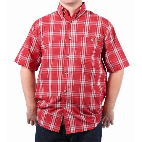 Case IH Men's Button-Down Collar Plaid Shirt