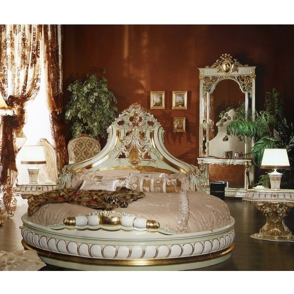 shop luxury baroque style round castle bed king  free