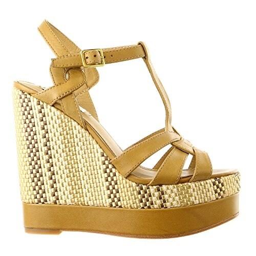 LAUREN by Ralph Lauren Womens Maeva Leather Open Toe Casual Platform Sandals
