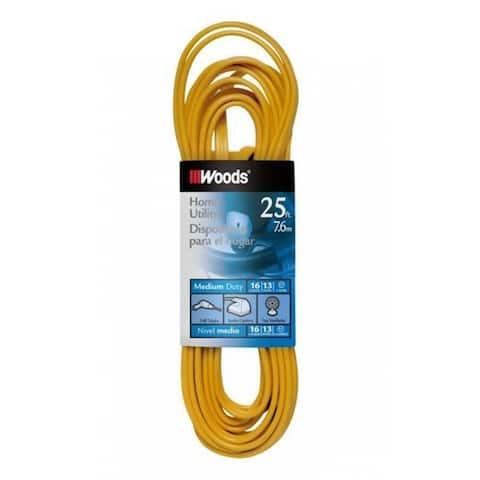 Coleman Cable 0831 Indoor Flat Vinyl Extension Cord, 16/3x25'